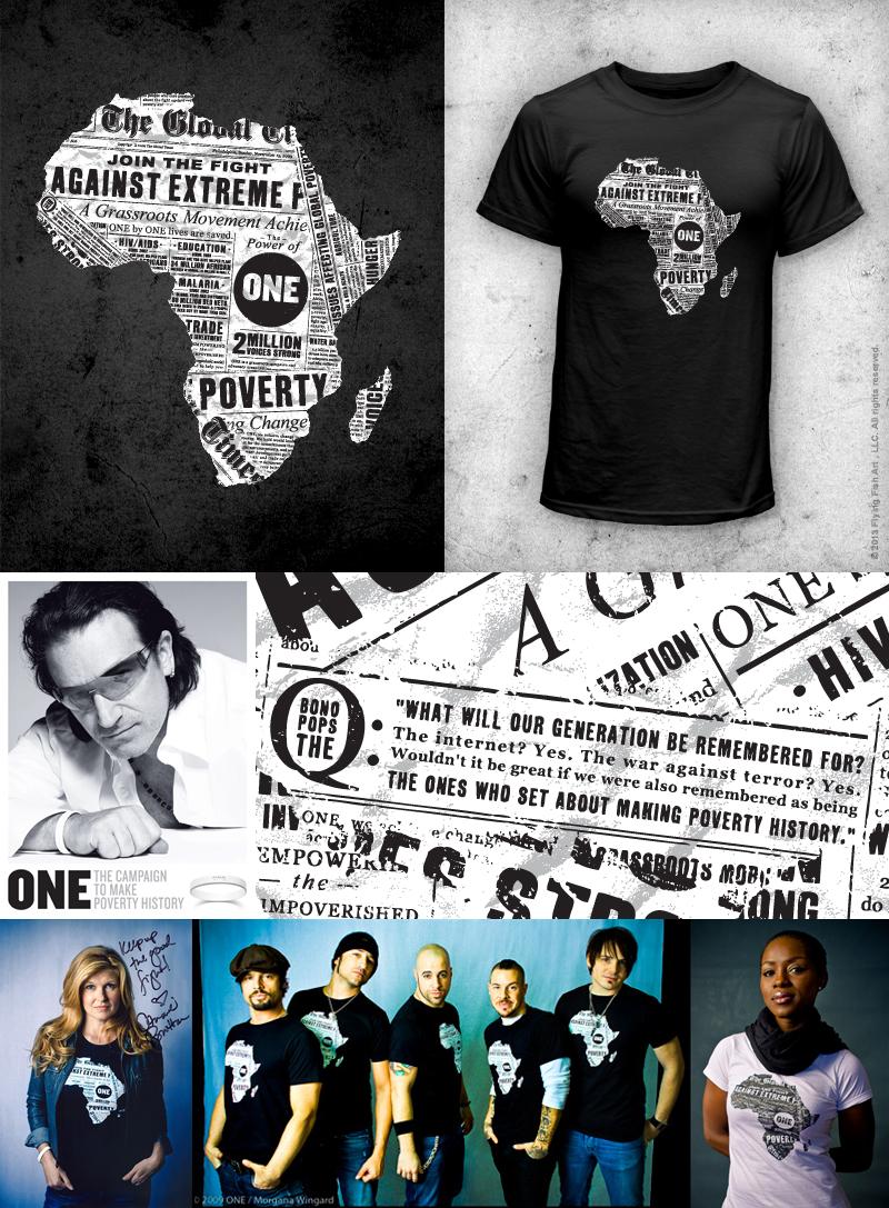 ONE Campaign    Next Top Tee - Valerie Strecker   100% organic, fair trade T-shirts made in Uganda. http://bit.ly/shoponeshirt