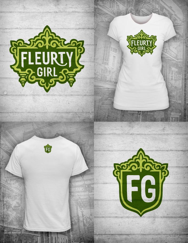 Fleurty Girl   Logo Tee - Valerie Strecker