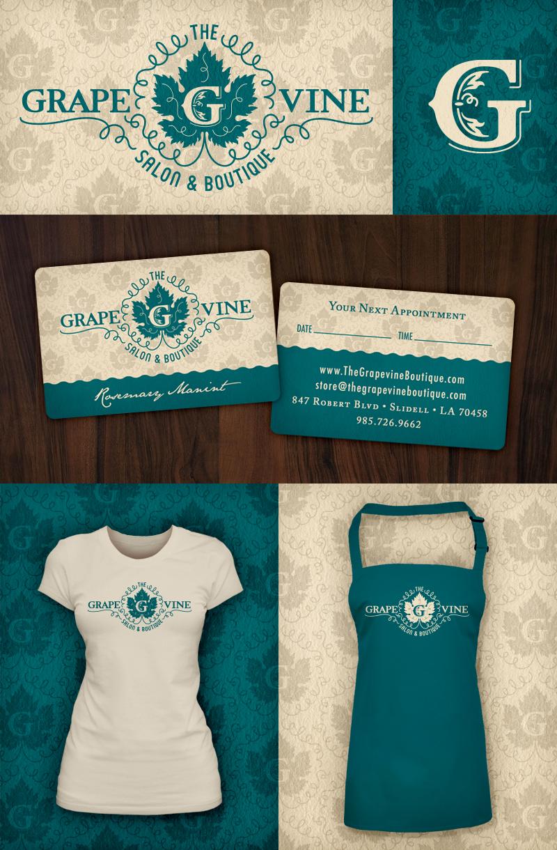 The Grapevine Salon & Boutique   Logos •Bizcards • T-shirts