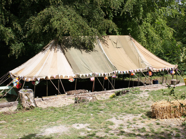 I can find most things! 1950s army tent. Very original, very tired, very cool.