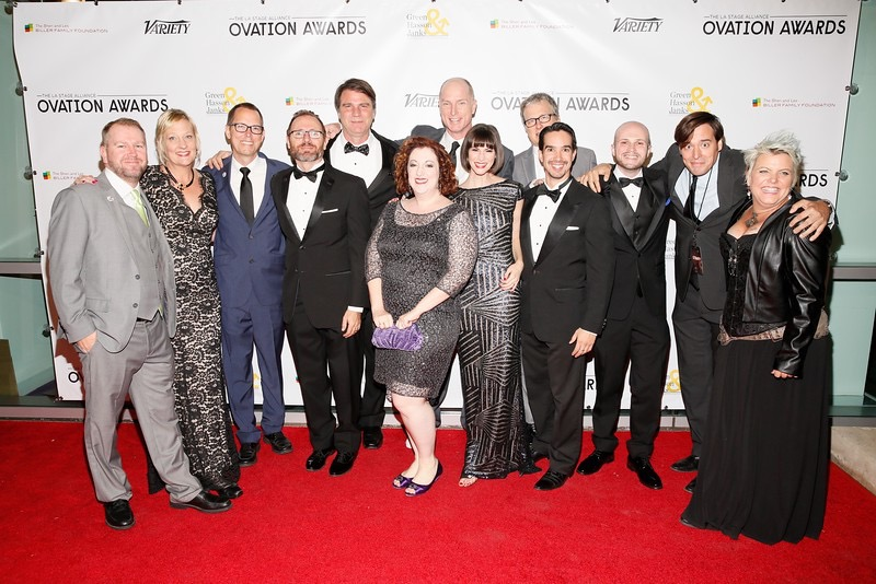 Cast and crew of The Behavior of Broadus at the Los Angeles Ovation Awards