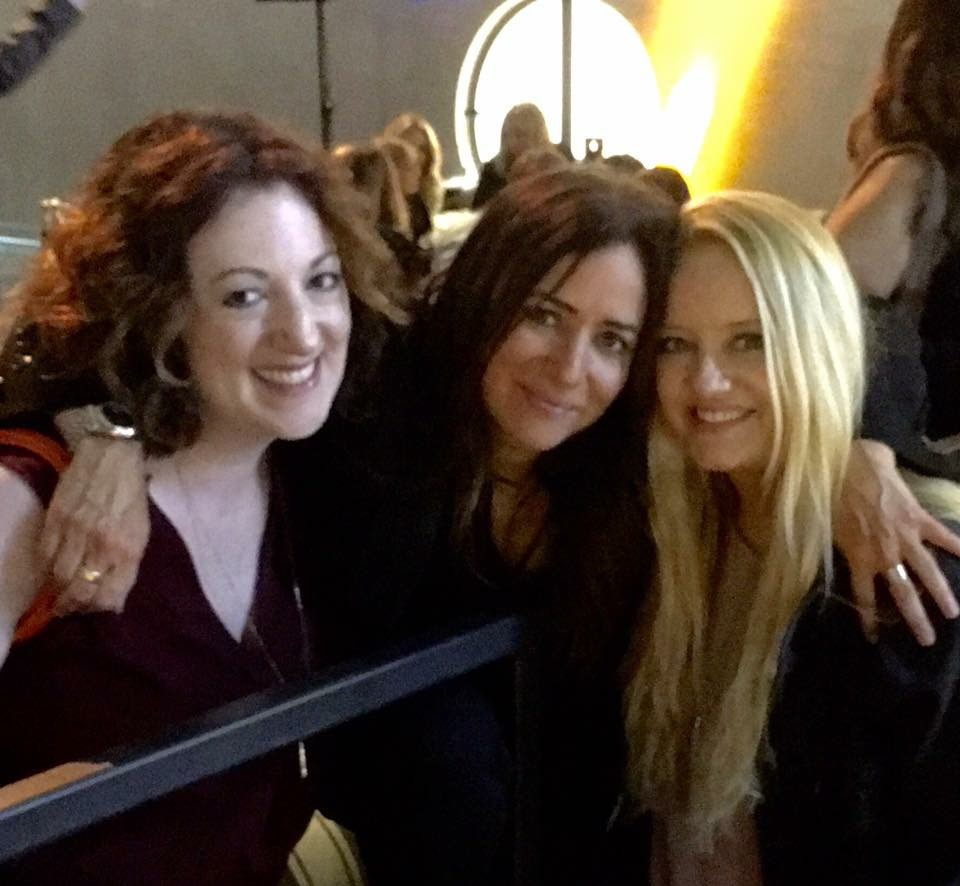 With Pamela Adlon and Lucy Davis at the Better Things premiere party
