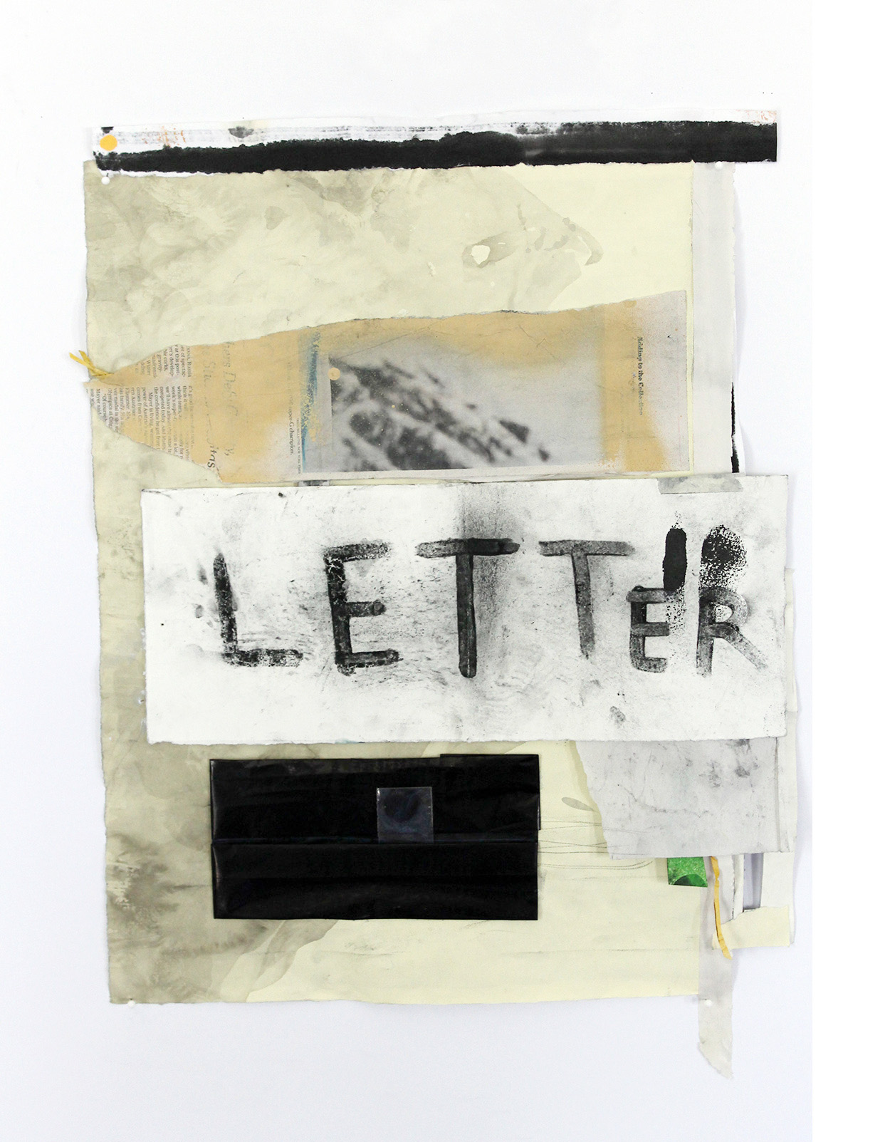 Letter , 2014, collage,19.5 X 15.5 in.