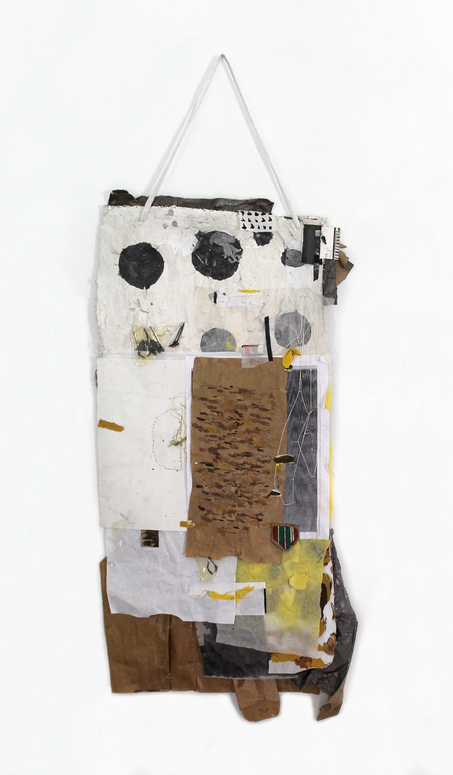 Watch your Watch, Nellie ,2014,foam, paper, plastic, acrylic,39 x 20 x 3 in.