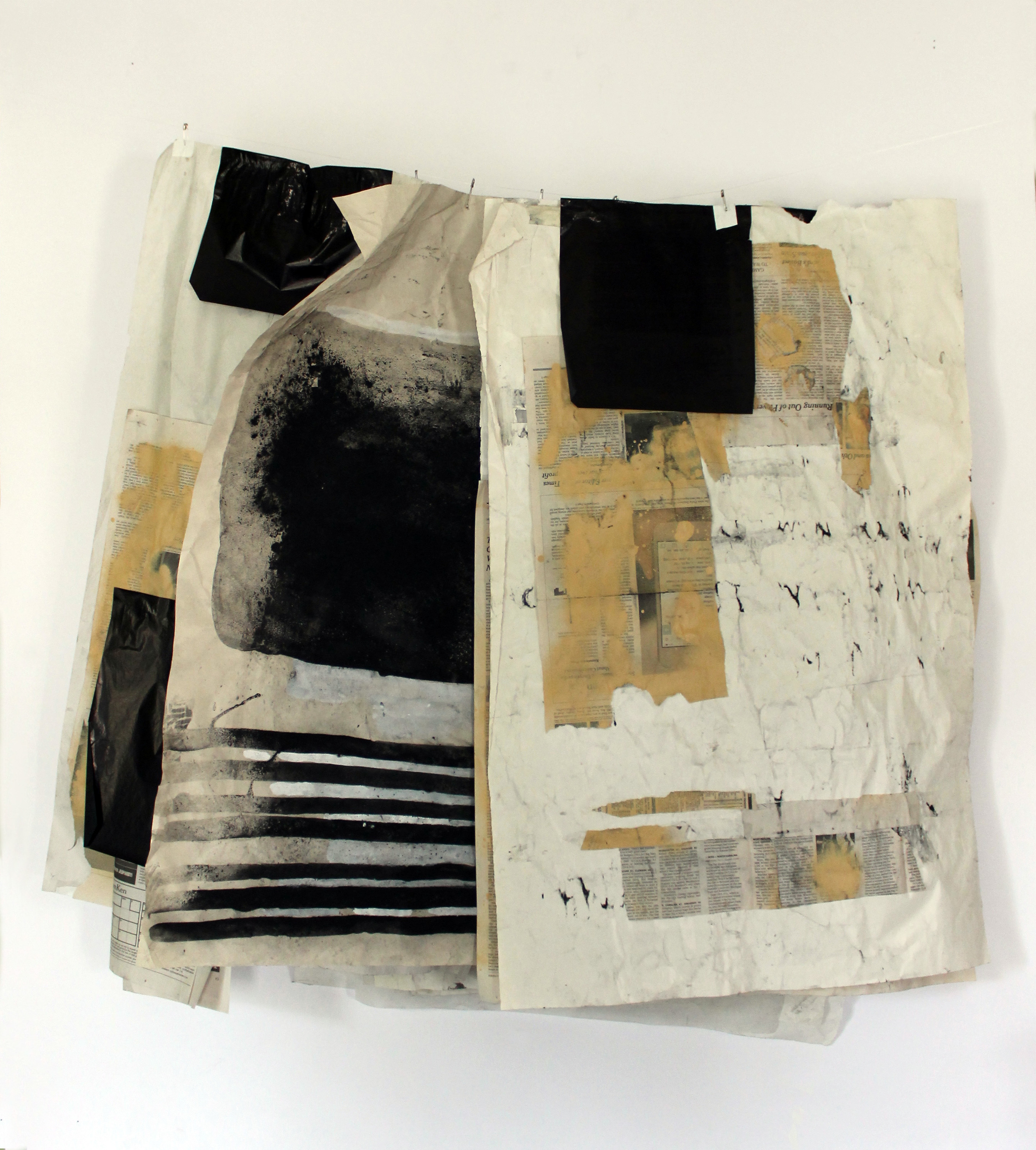 Letters to Ruby ,2014,graphite, carbon paper, acrylic, safety pins,39 x 38 x 8 in.