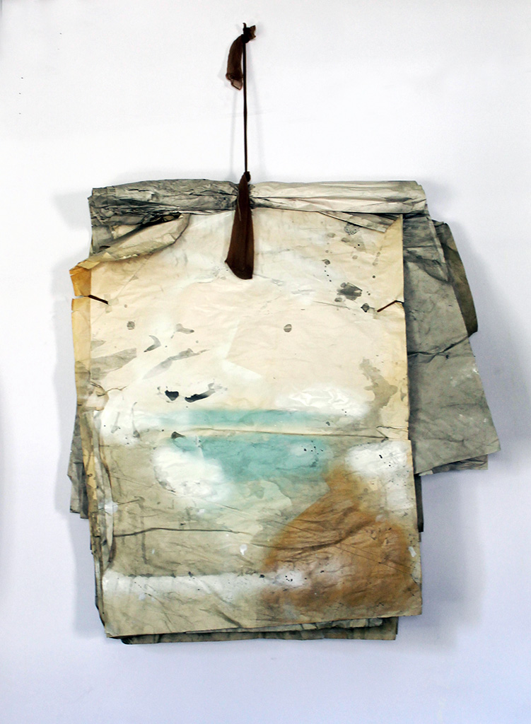 Tampa With and Without You , 2014, paper, acrylic, cotton, nylon, 43 x 28 x 9 in.