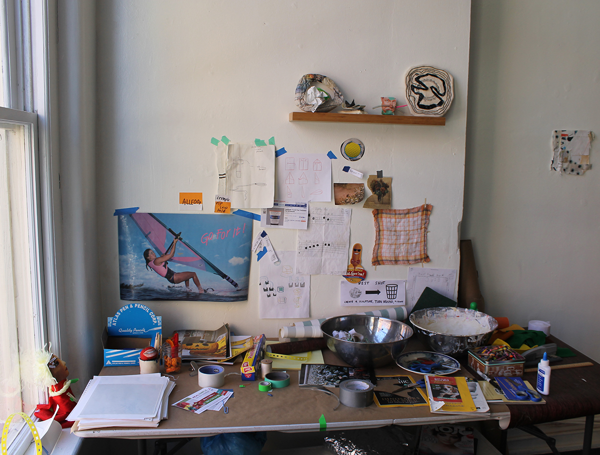 Best Shot , Harriet Hoover & Amy S. Hoppe, 2015  Installation view of  Best Shot's interactive studio table