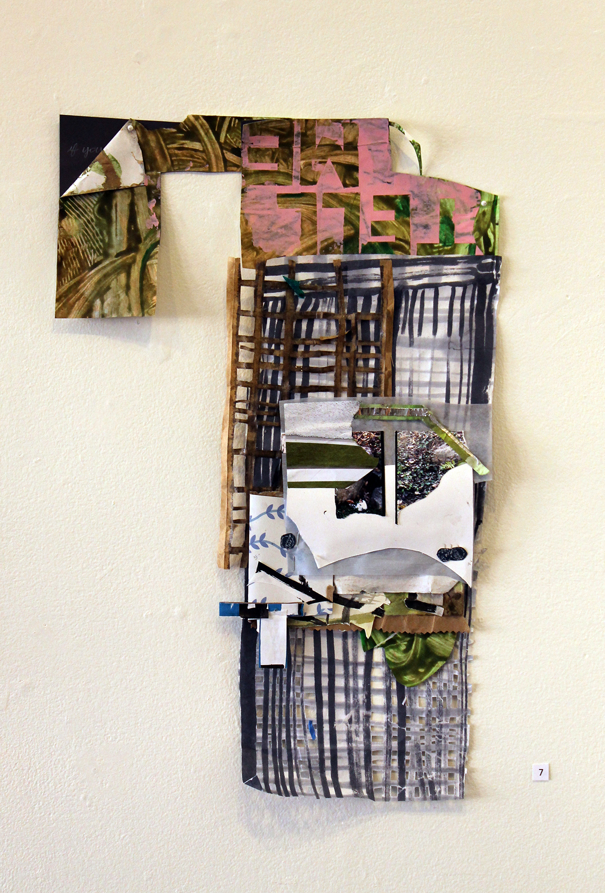 Tell me, if you know all this,  Harriet Hoover & Amy S. Hoppe, 2015, acrylic paint, gouache, aluminum foil, and paper