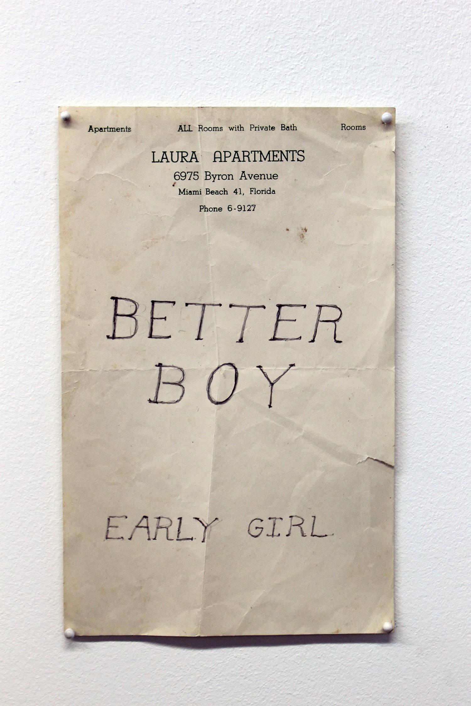 Better Boy, Early Girl