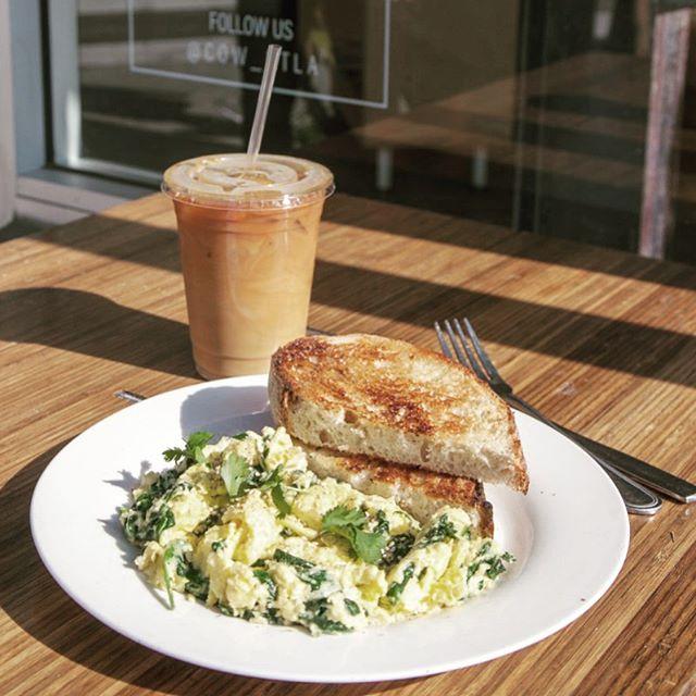 Good morning #cowcafe #healthybreakfast #southparkdtla