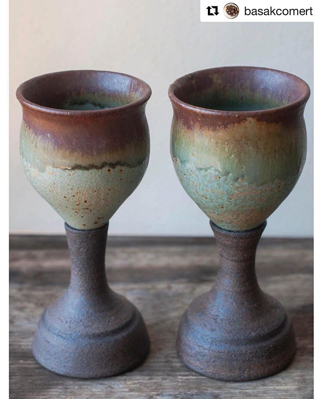Check out these amazing new goblets from our menu designer @basakcomert !  #vegetarianrecipes #veggie #menu #ceramics #pottery #cowcafedtla