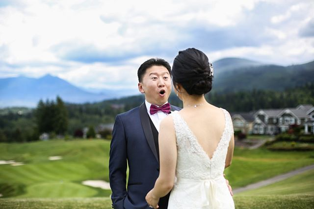First looks are always fun. Always.⠀⠀⠀⠀⠀⠀⠀⠀⠀ #pnwweddingphotographer #seattleweddingphotographer #tacomaweddingphotographer #bride #groom #weddingideas #tacomawedding #seattlewedding #pnwwedding #firstlook #mountainwedding #fineartwedding #fineartweddingphotography #theclubatsnoqualmie #theclubatsnoqualmiewedding
