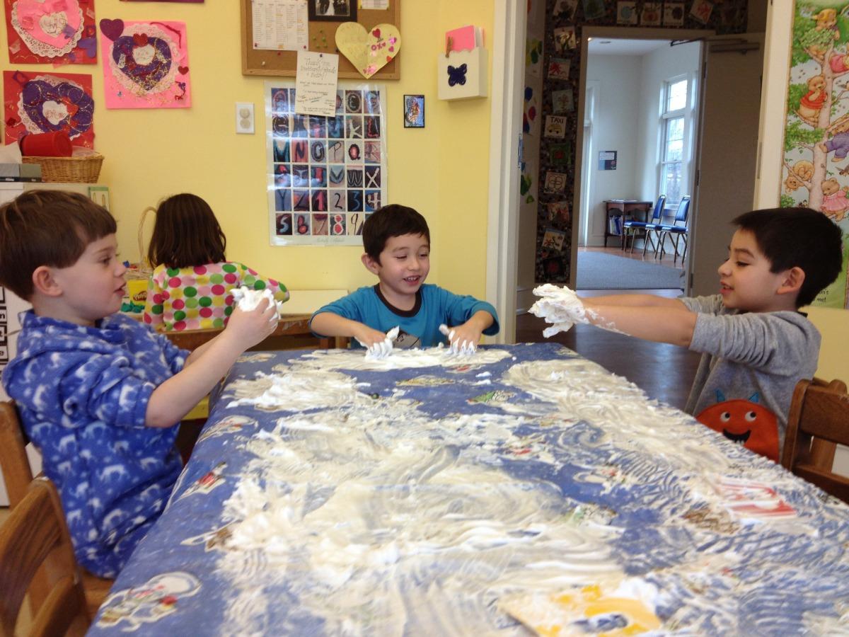 shaving cream painting
