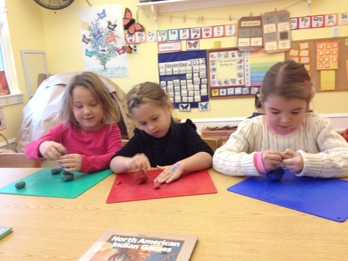 Working with clay builds strong finger muscles.