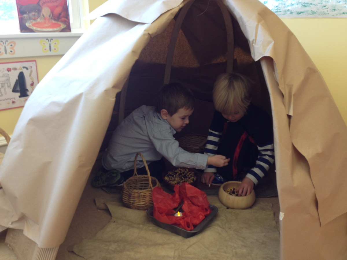 cooking in the wigwam