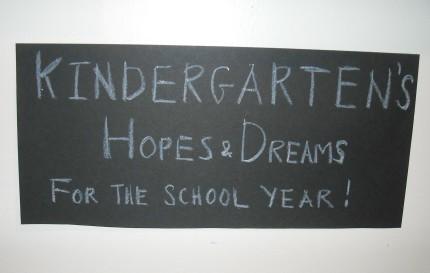 Kindergarten's Hope and Dreams Exhibit