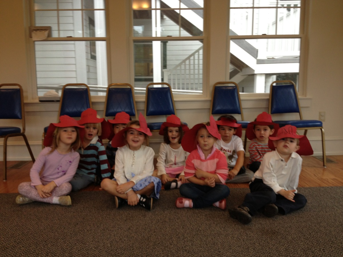 We made fire hats.