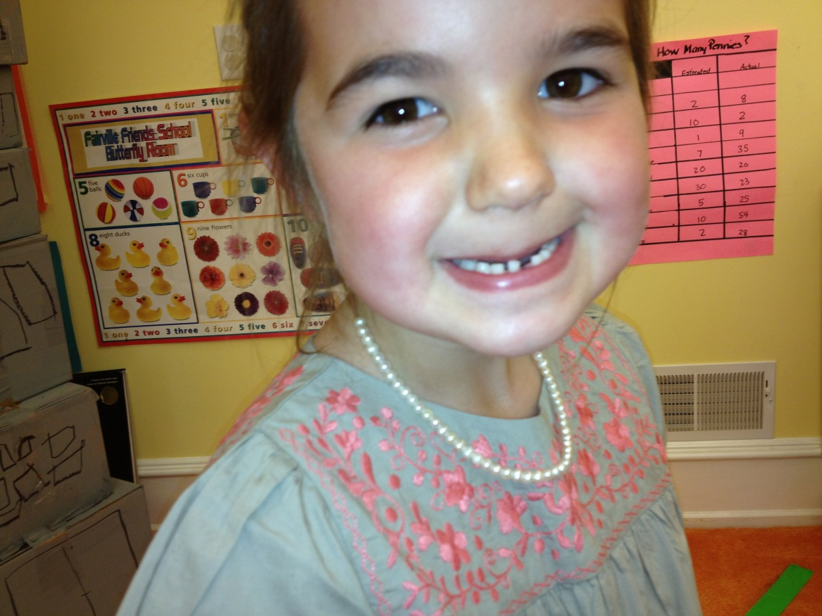 Caroline's first lost tooth
