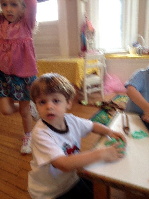 we love playing with play-doh with our friends