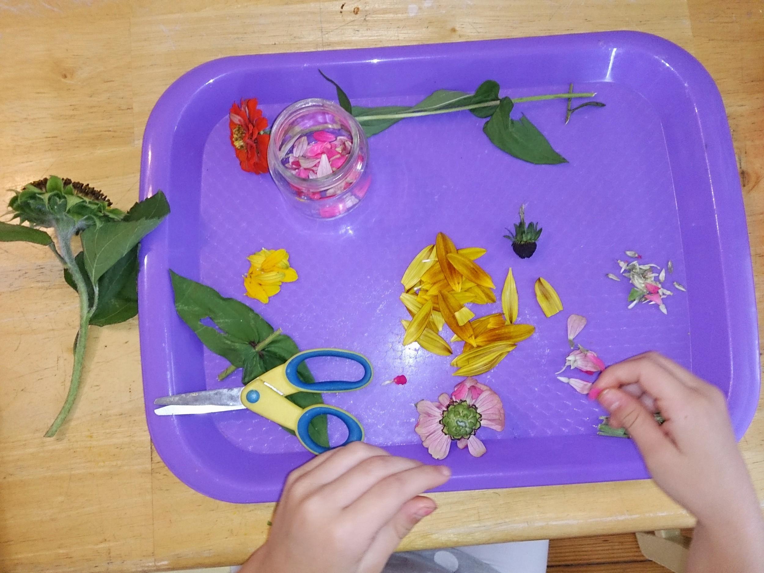 Flower Cutting Station