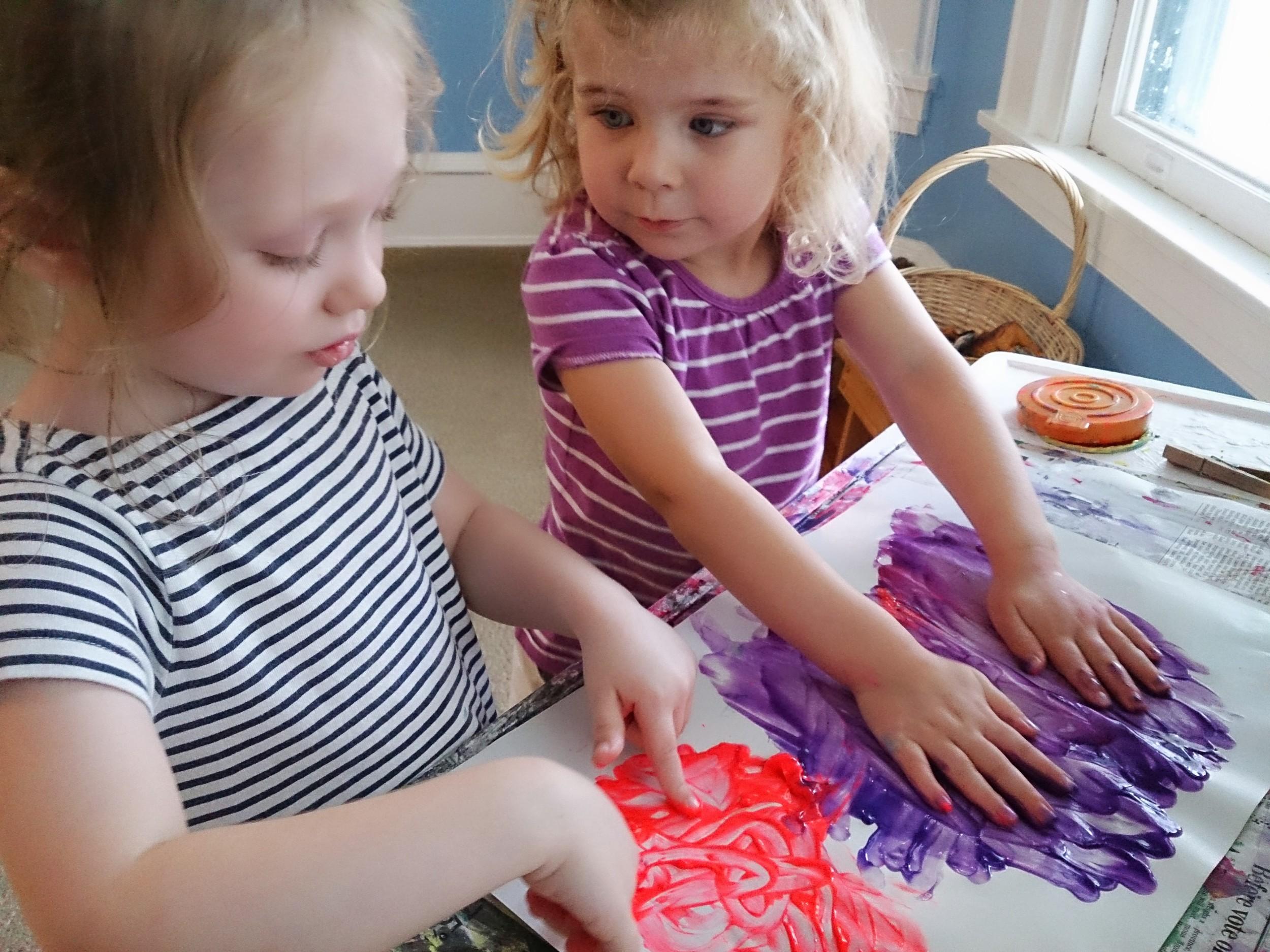 Friendship Finger Painting