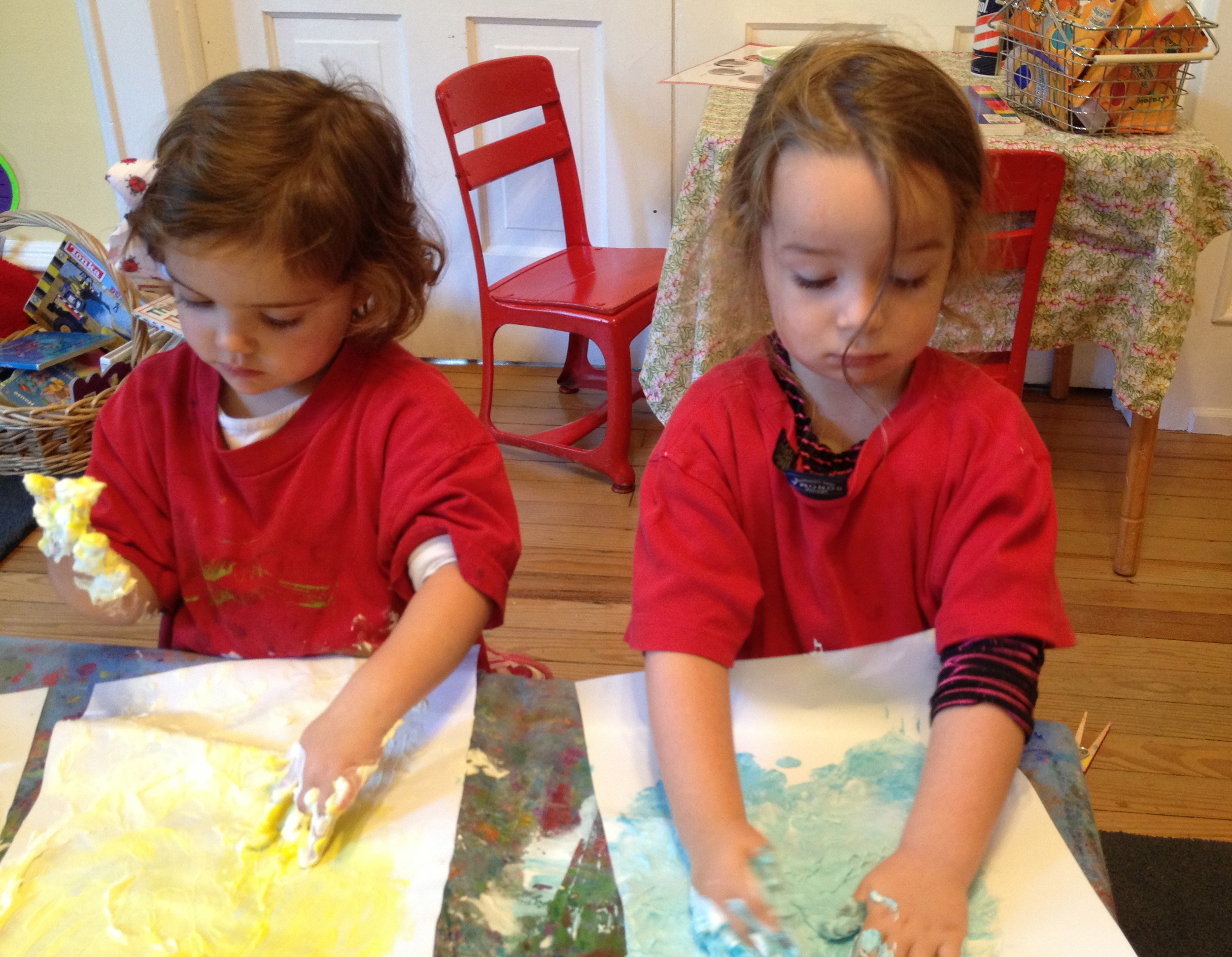 Painting with shaving cream