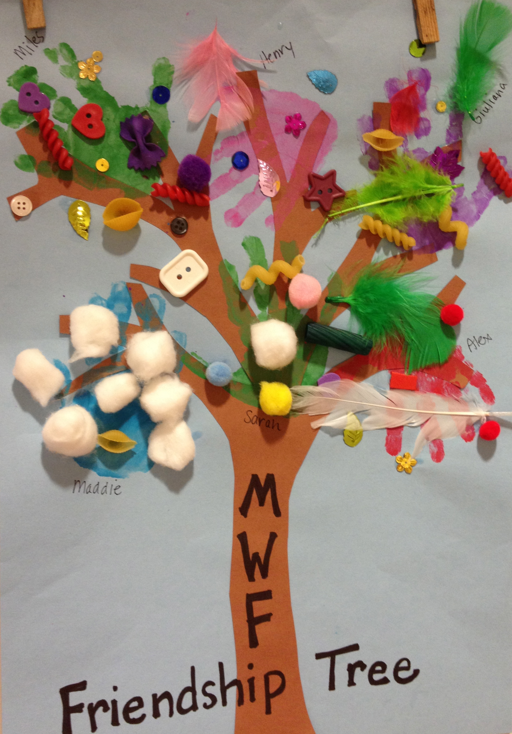 Cooperative art- our Friendship Tree