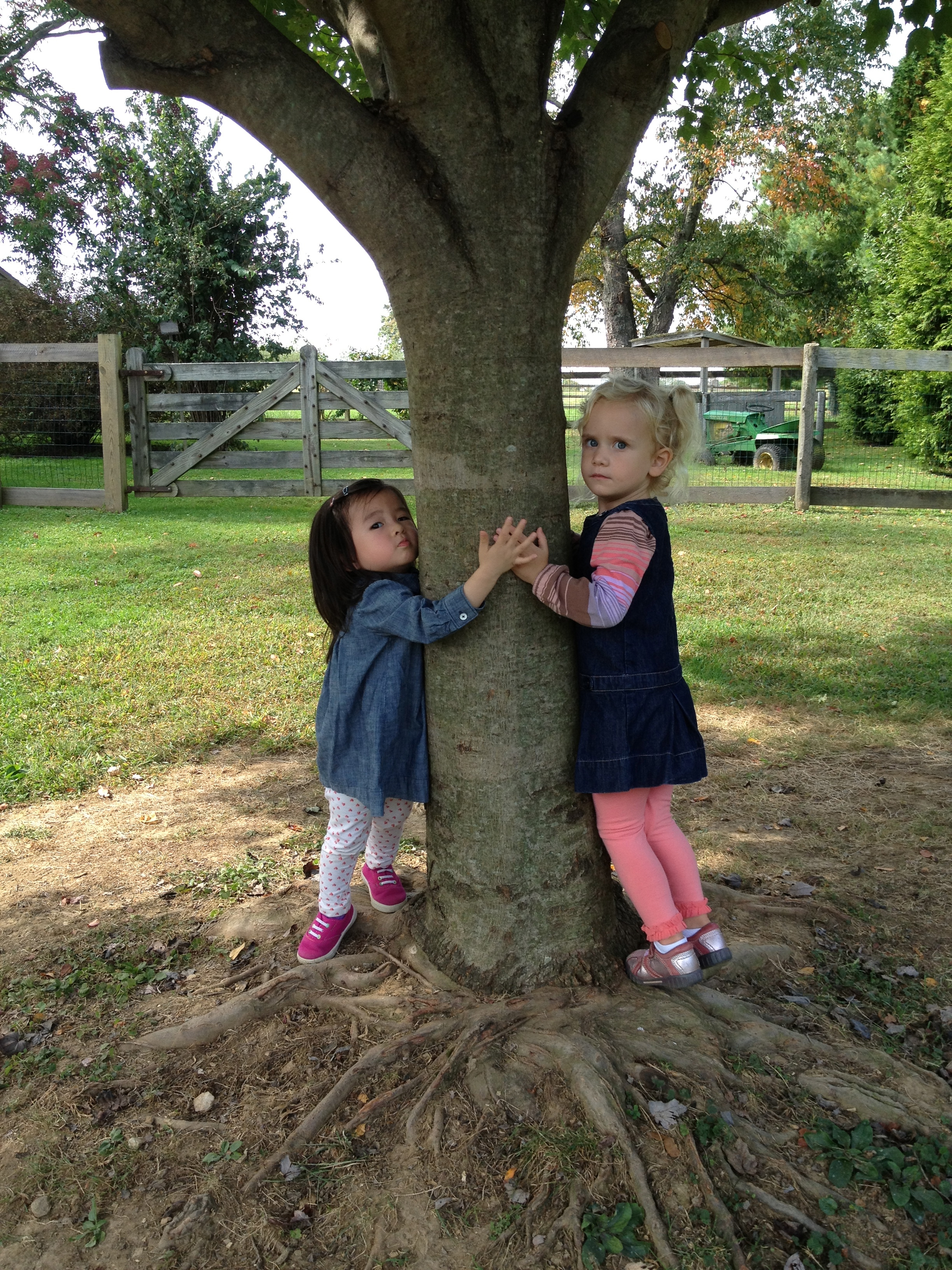 Fairville friends showing their love of the Earth