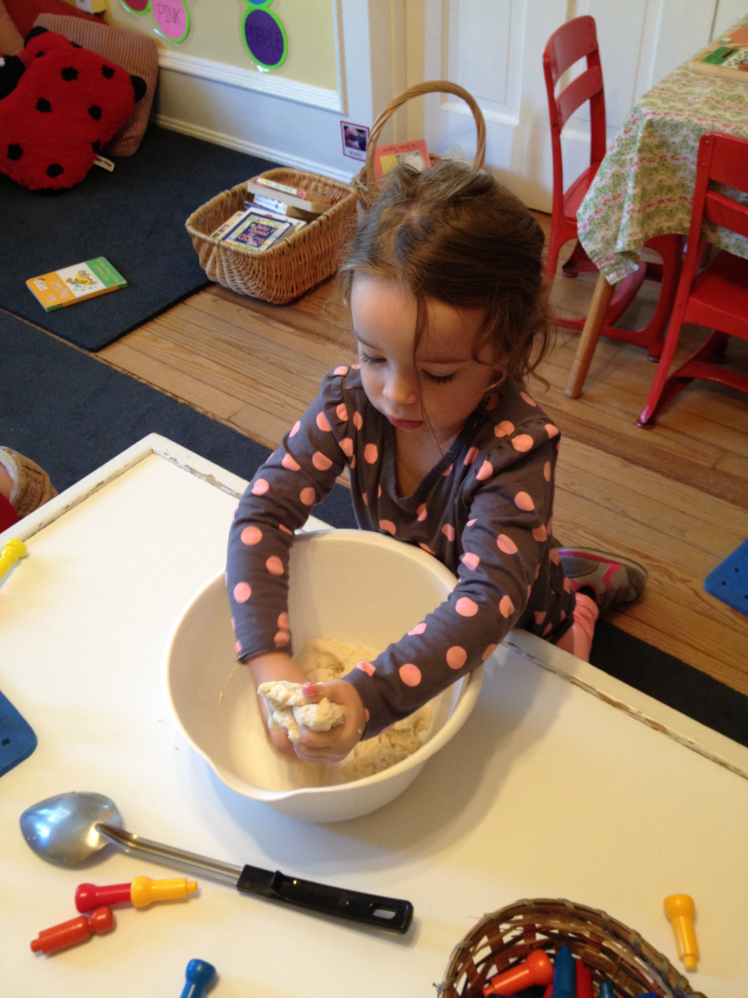 making salt clay dough