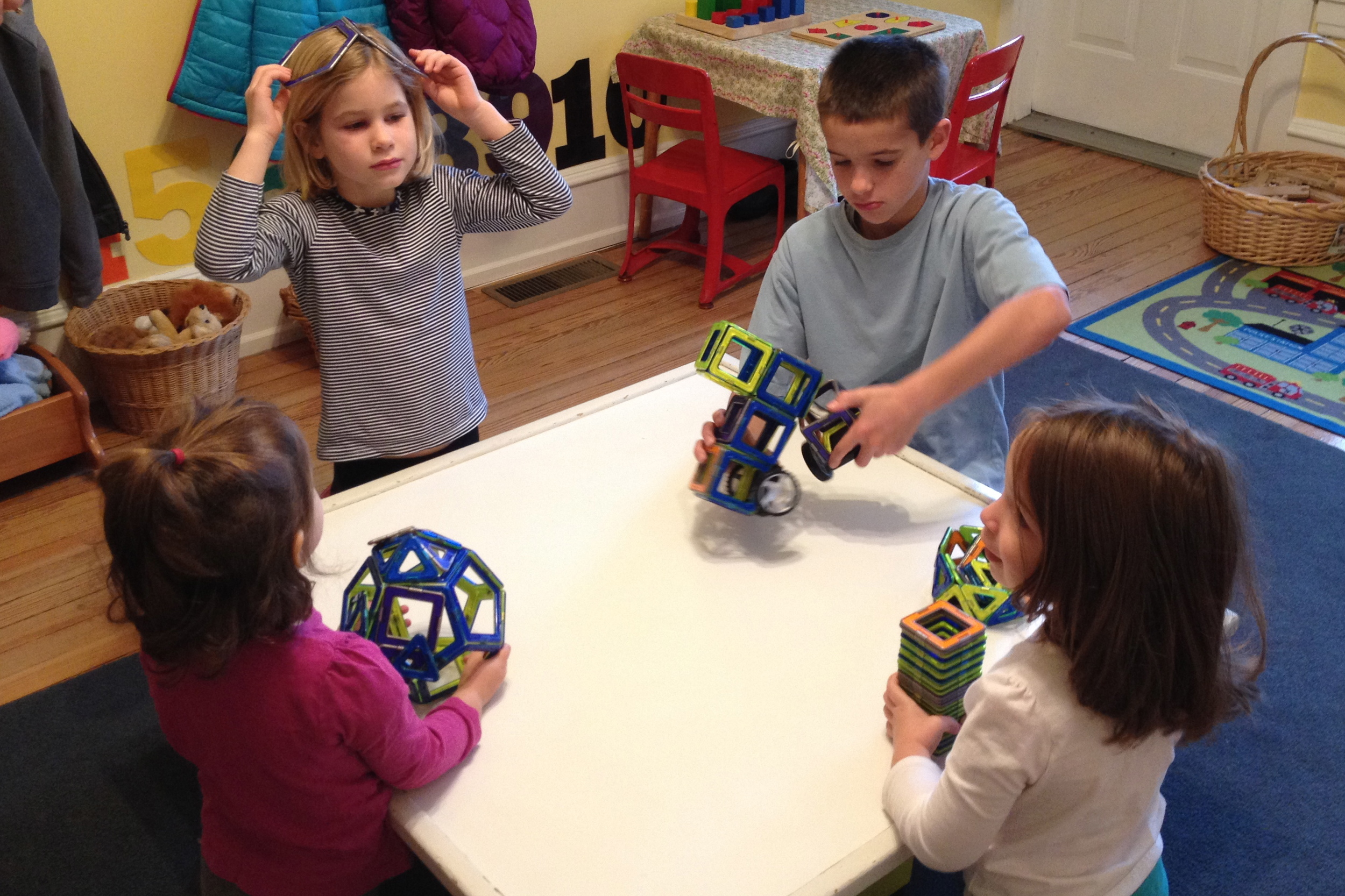 Nathaniel and Annabelle teach us how to build with Magformers