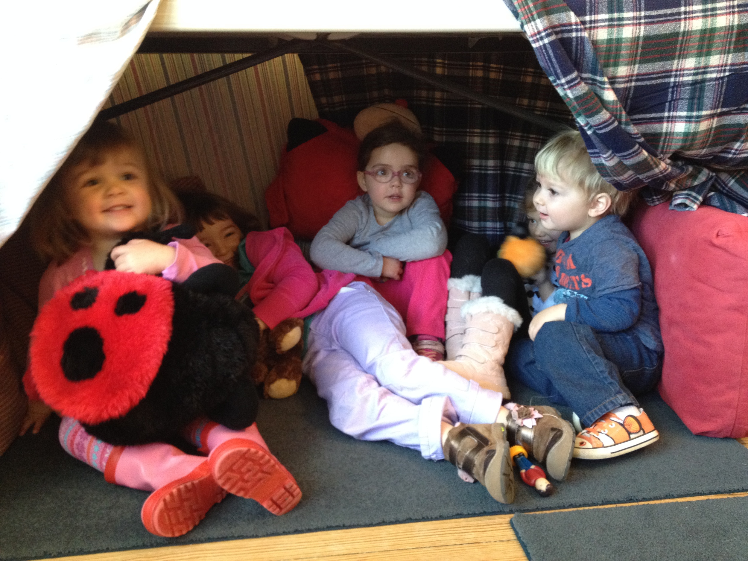 hiding out in our bear cave!