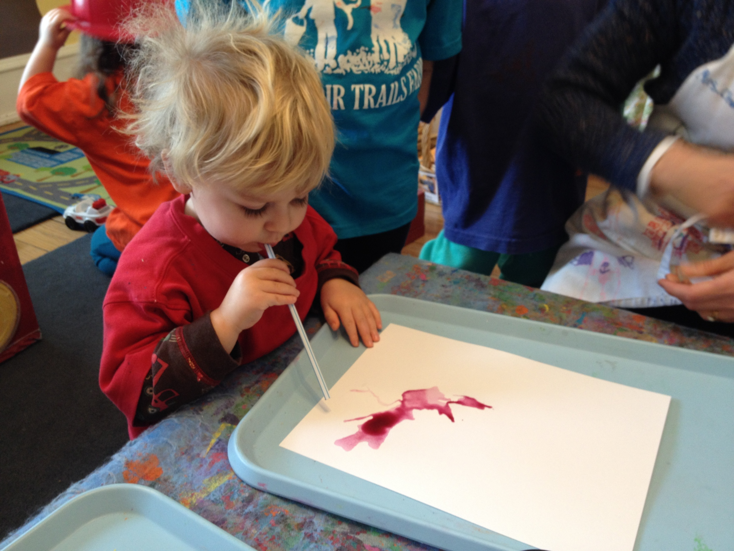 Straw painting