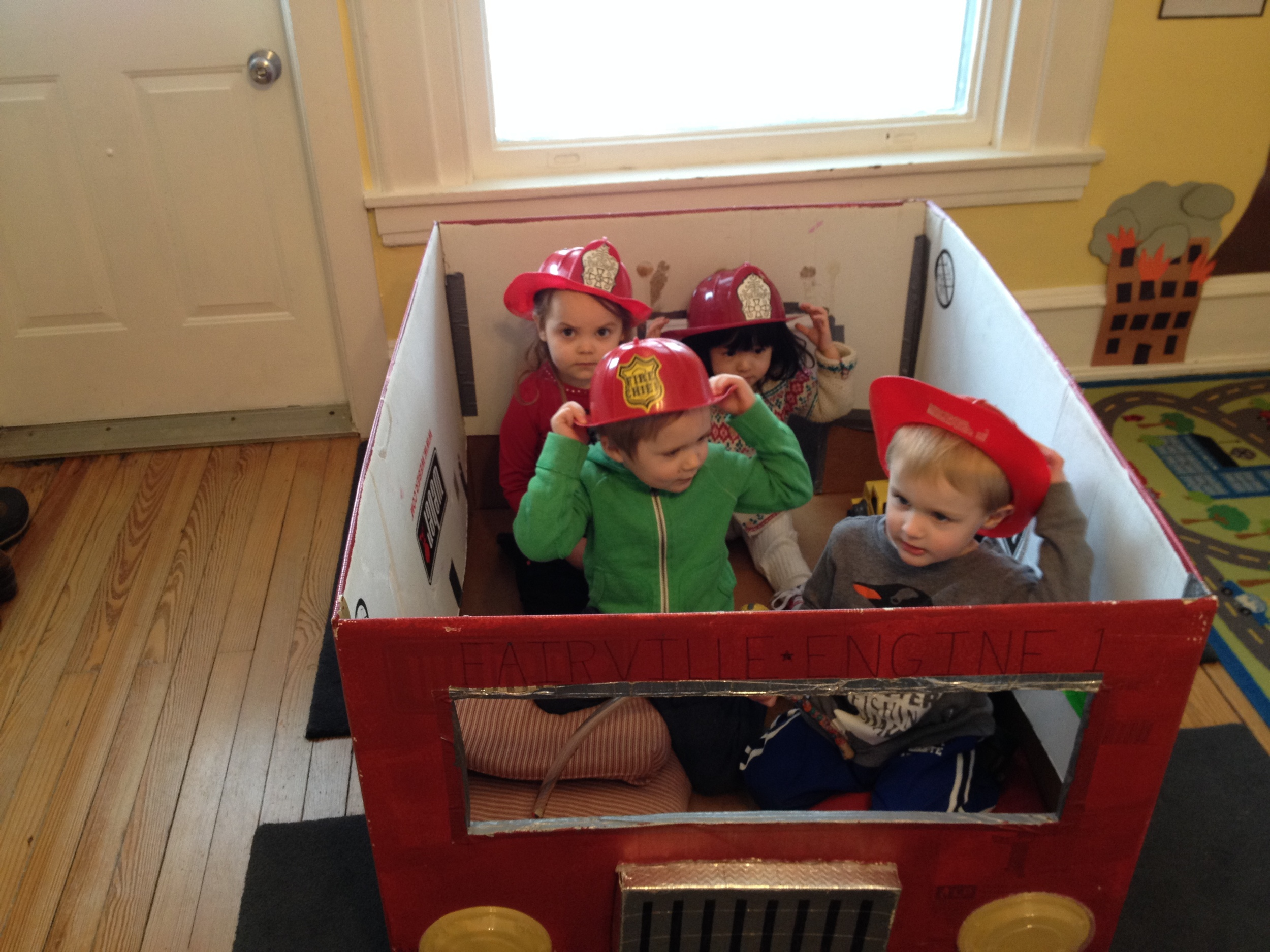 Fun in our fire engine!
