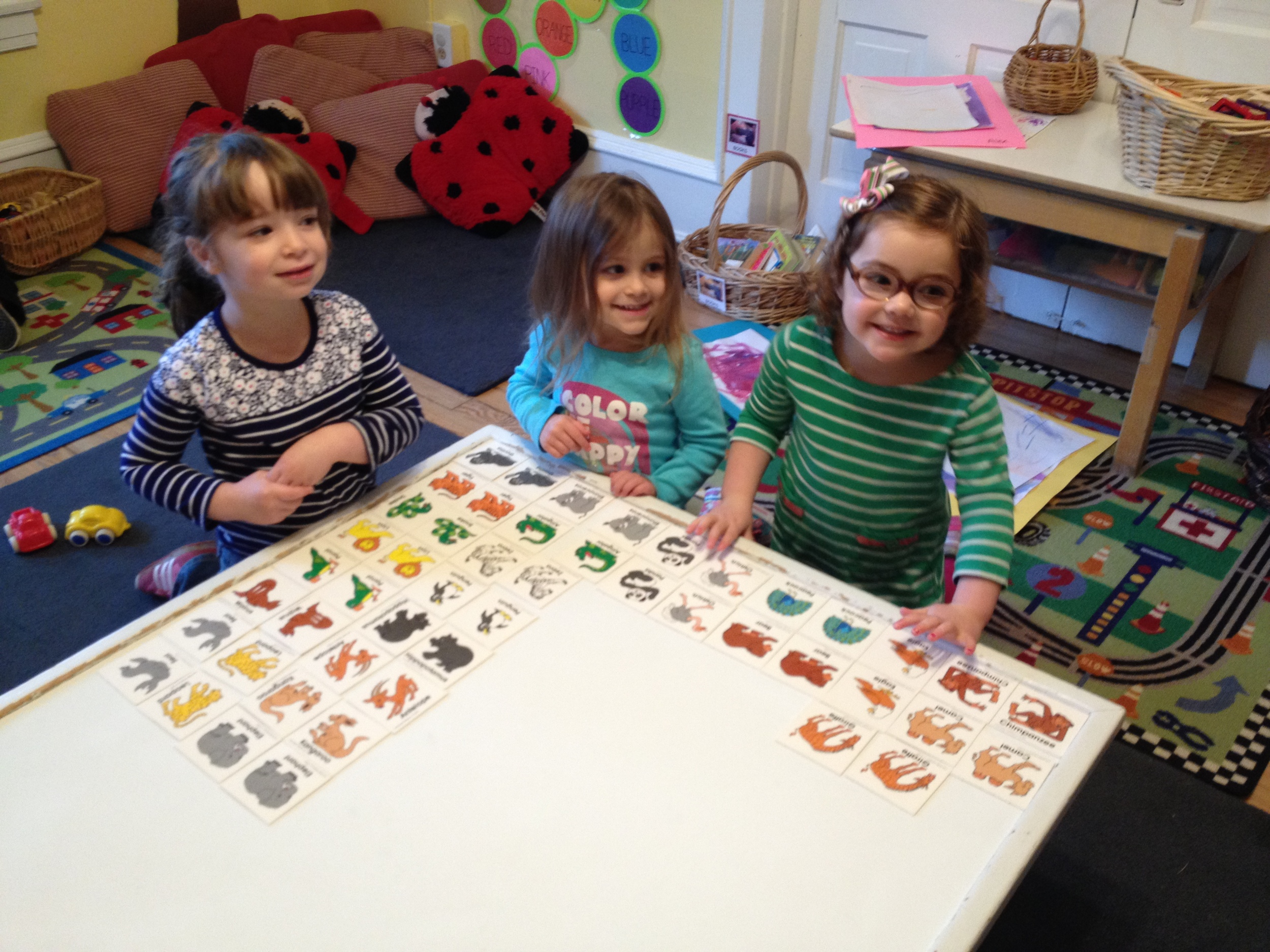 Look, we matched all the zoo animal pairs!