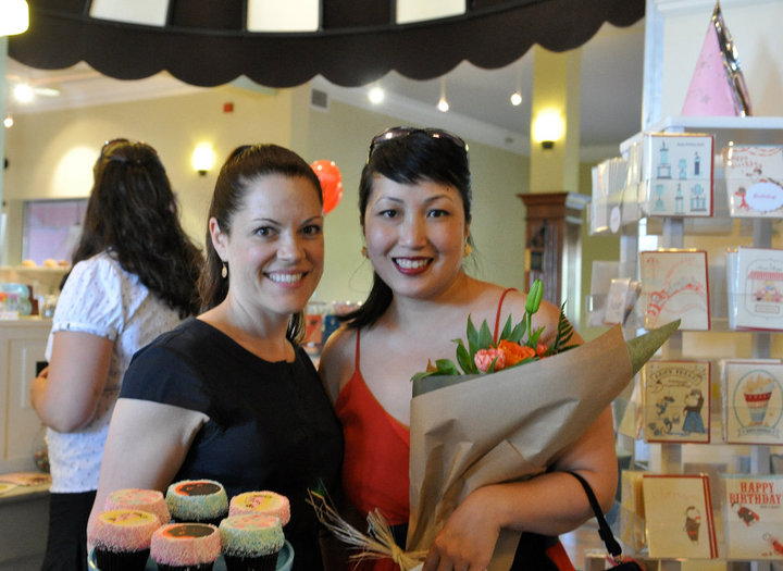 "Jennifer Shea, owner of Trophy Cupcakes, and Kelly at the ""Salty Sugar"" solo show. Where it all started!"
