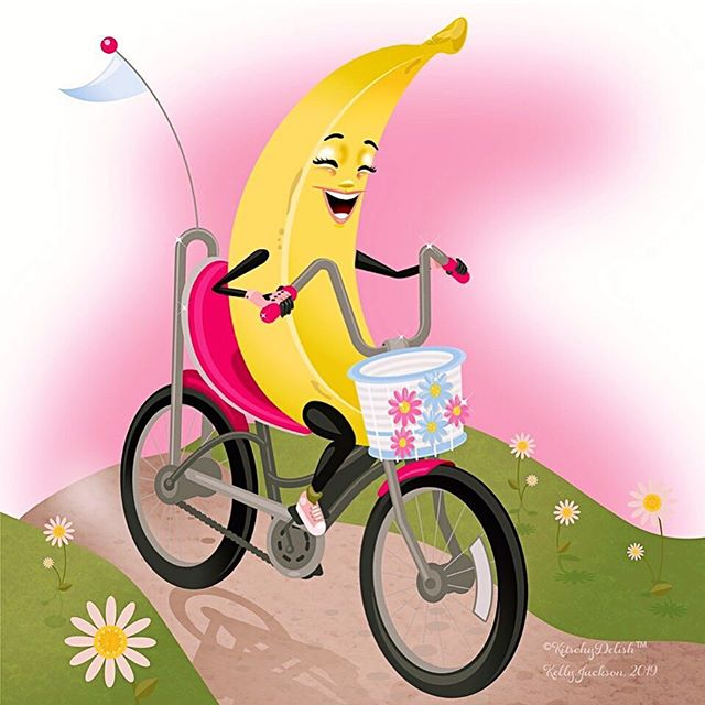 Banana seat! Copyright Kitschydelish 2019 Did you have a bicycle with a banana seat? As the weather gets nicer, I'm reminded of my childhood in the 80's. Riding bikes around the neighborhood with friends until the pink haze settled over the horizon, hearing my mom calling me home. ❤️