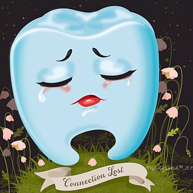 """Blue Tooth, Connection Lost"" © Kelly Jackson, Kitschy Delish, 2019"