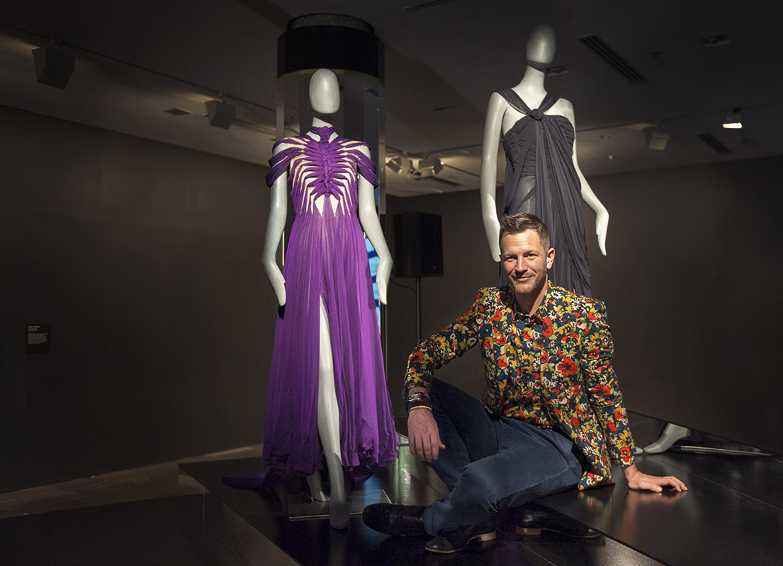 Jean-Paul Gaultier exhibition curator Thierry-Maxime Loriot at the NGV media launch