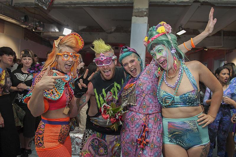 Designer Nixi Killick (second from right) & her event team