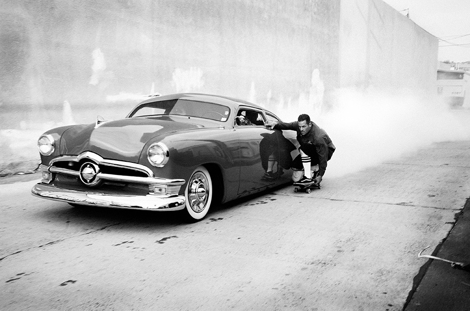 Jason Jessee gets dragged by a '50 Ford, San Diego