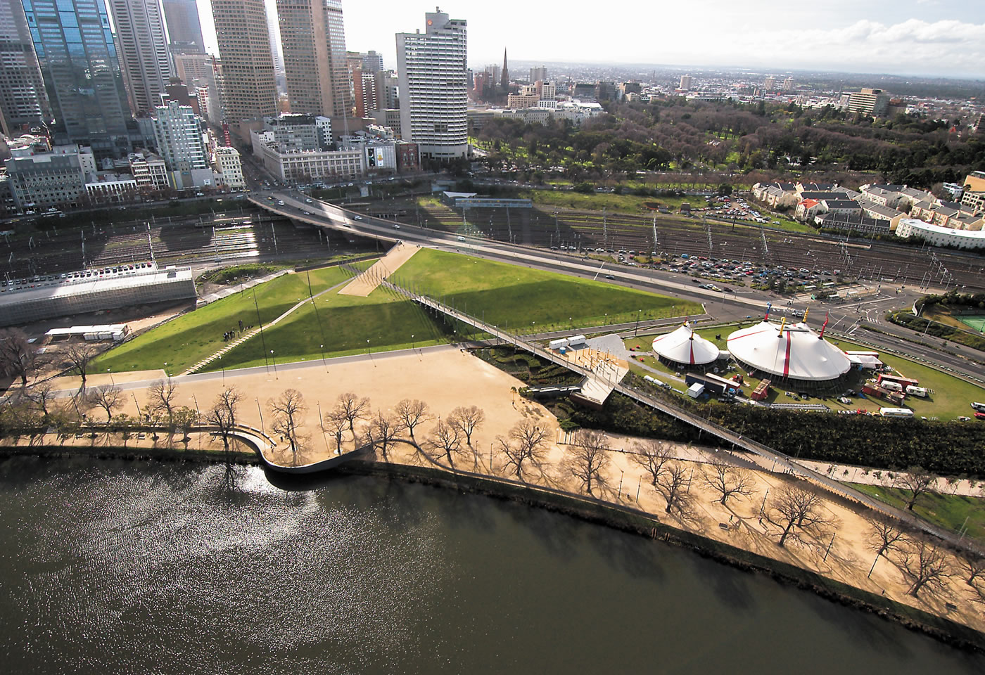 Birrarung Marr - the first new park near Melbourne's CBD in over a century.