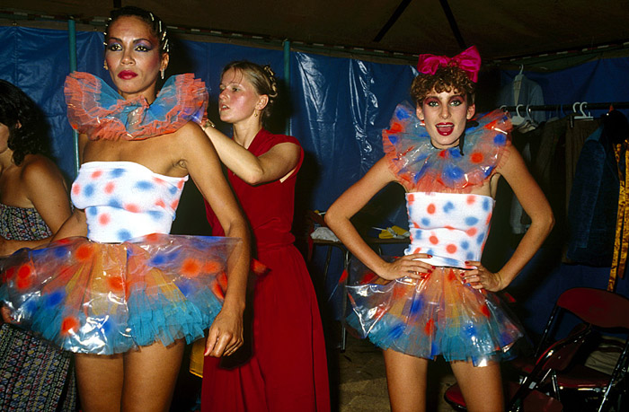 Jenny Bannister Plastic Tutus, Big Top Sportsgirl Parade 1979. Photograph by Rennie Ellis