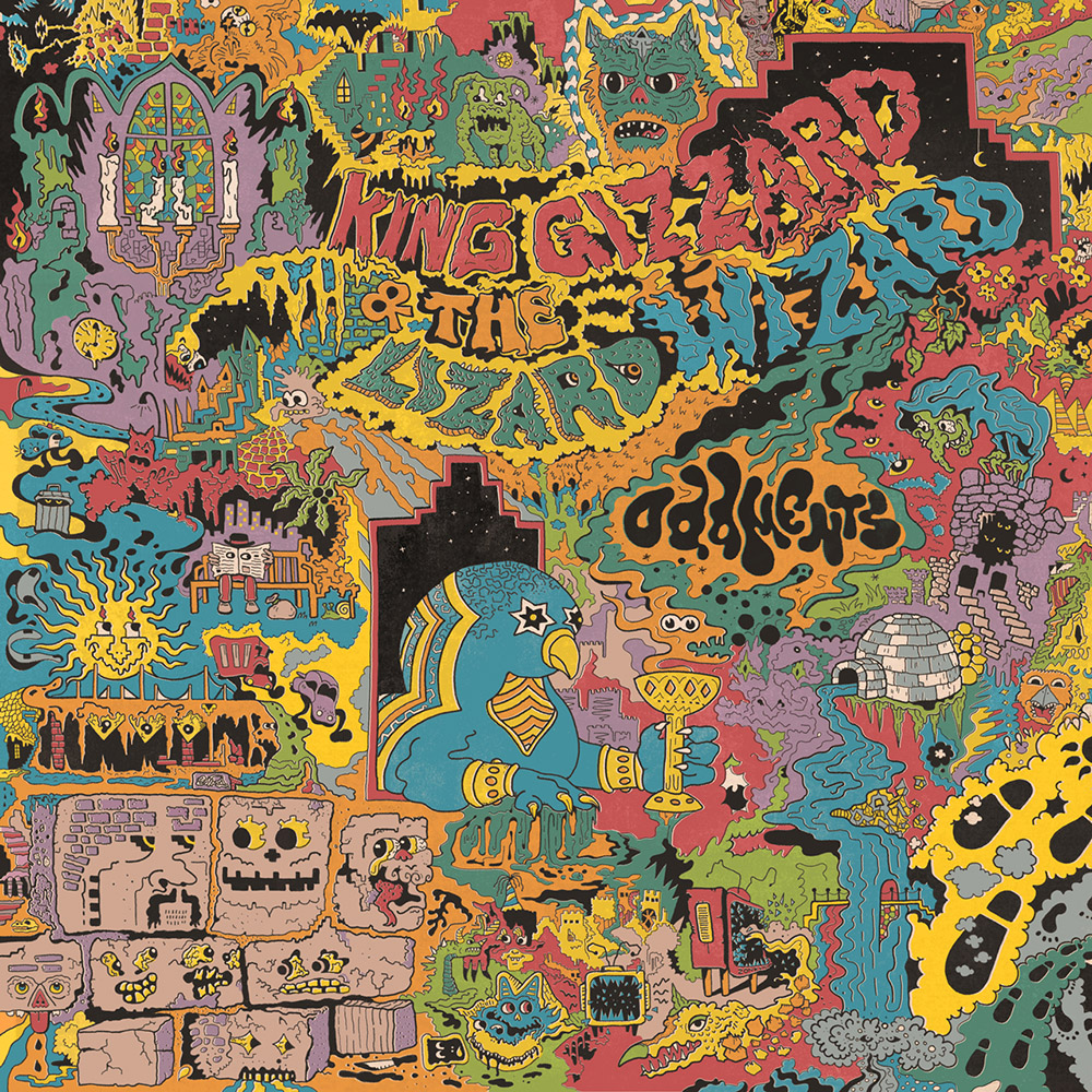 "King Gizzard & The Lizard Wizard -   ""Oddments"" Triple Gatefold Album cover"