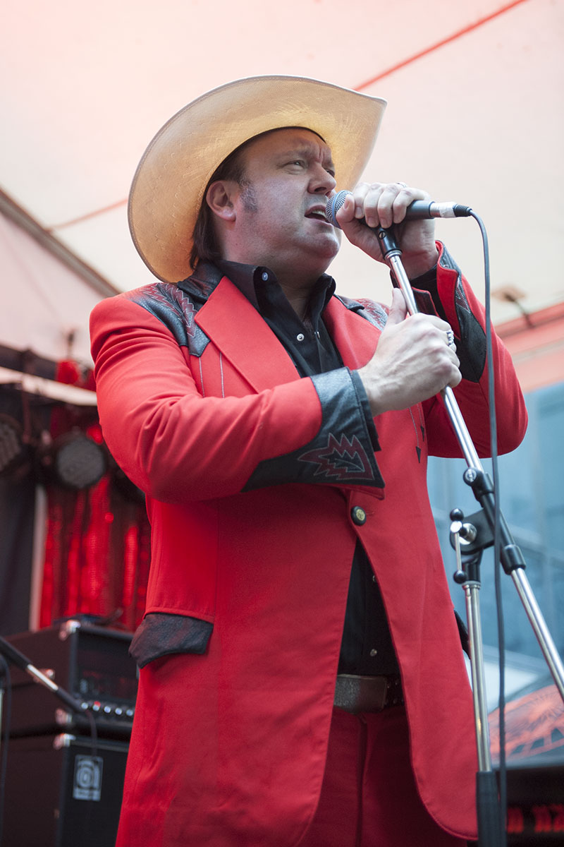 James Young MC's at Cherry Rock festival