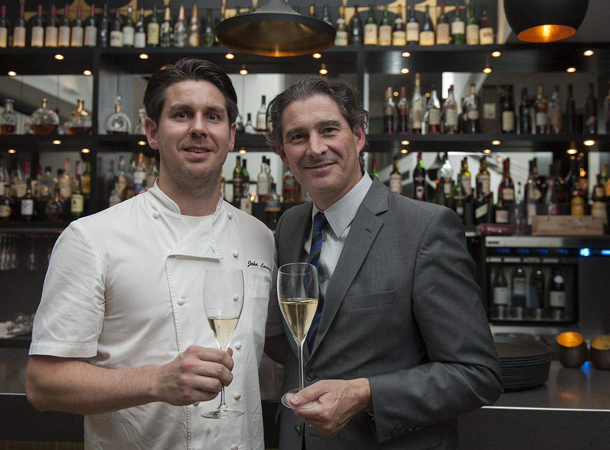 Chef John Lawson with Benoit Gouez