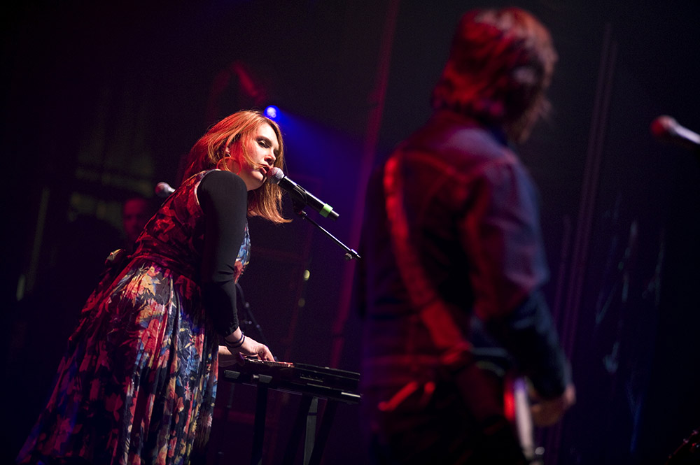Clare Bowditch performs at the Palais Theatre, St Kilda.