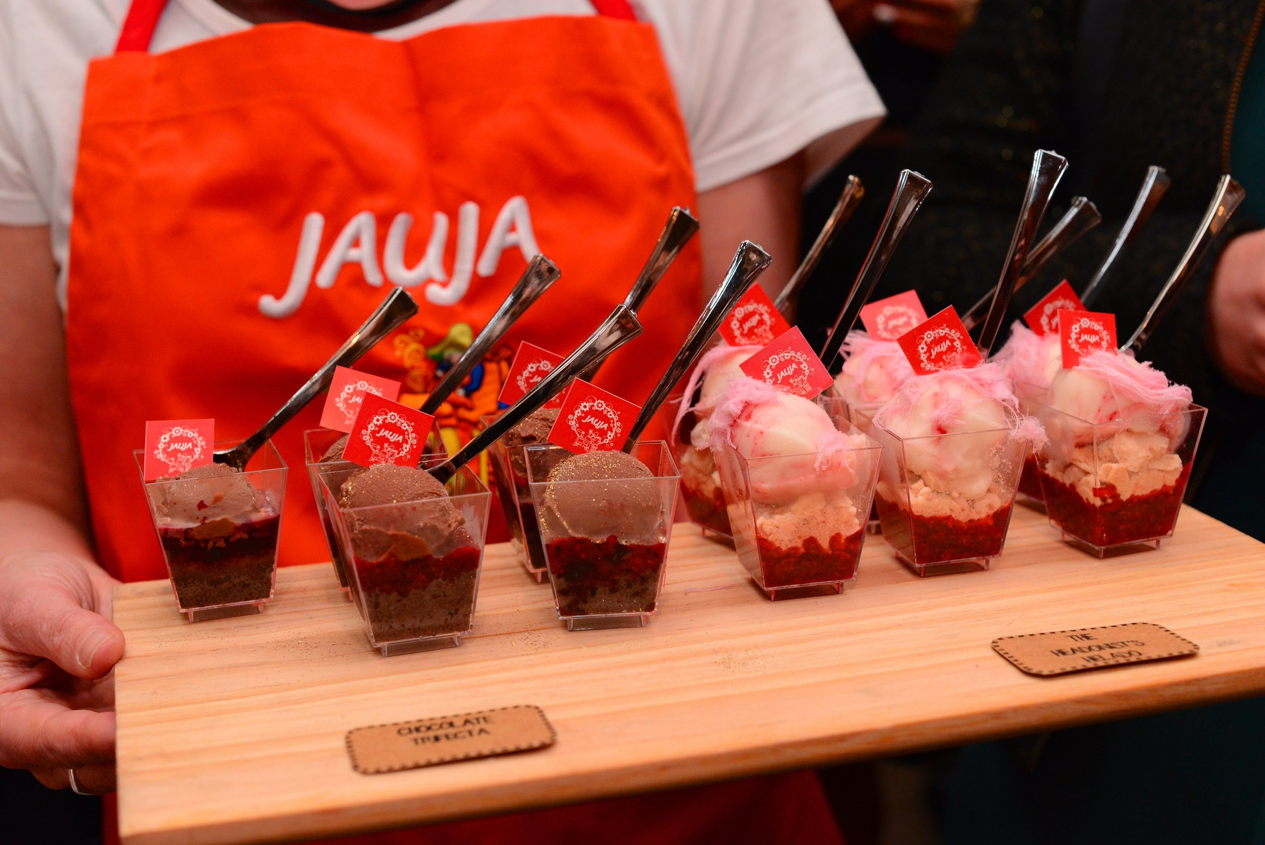 Custom parfaits created by  Helados Jauja  Argentinian ice-cream  in Carlton