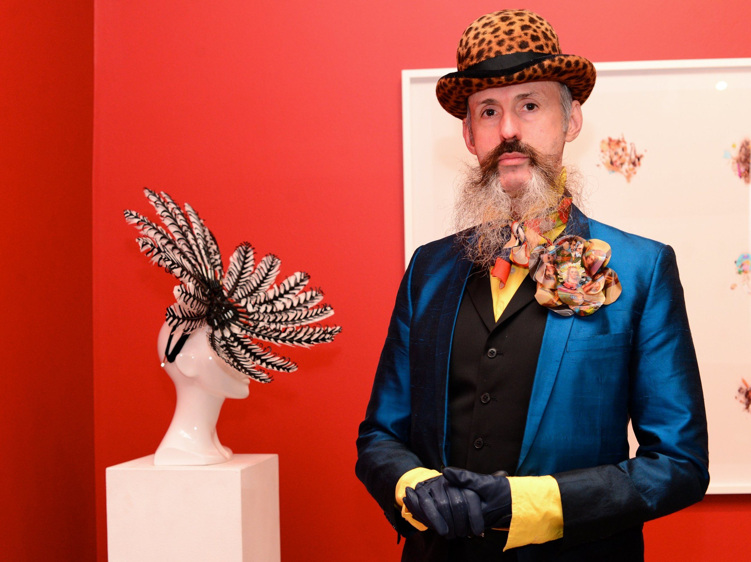 Milliner Richard Nylon launches The Eternal Headonist at The Anna Pappas Gallery in Prahran