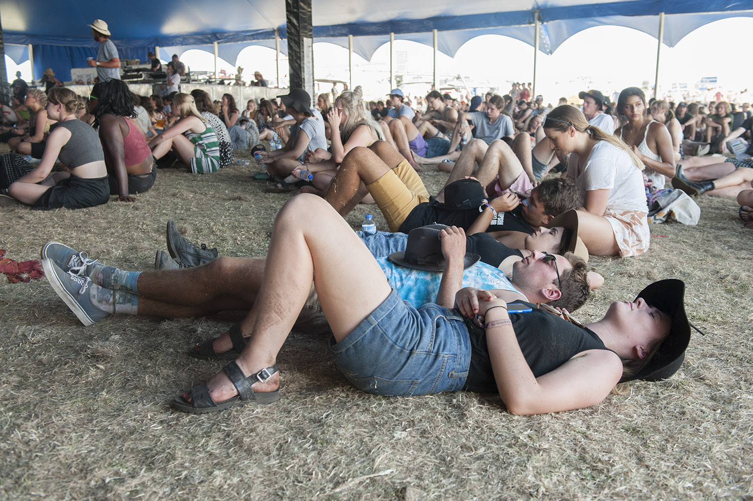 Time out between sets on day two of the 2015 Falls Festival - image courtesy of Kirsty Umback.