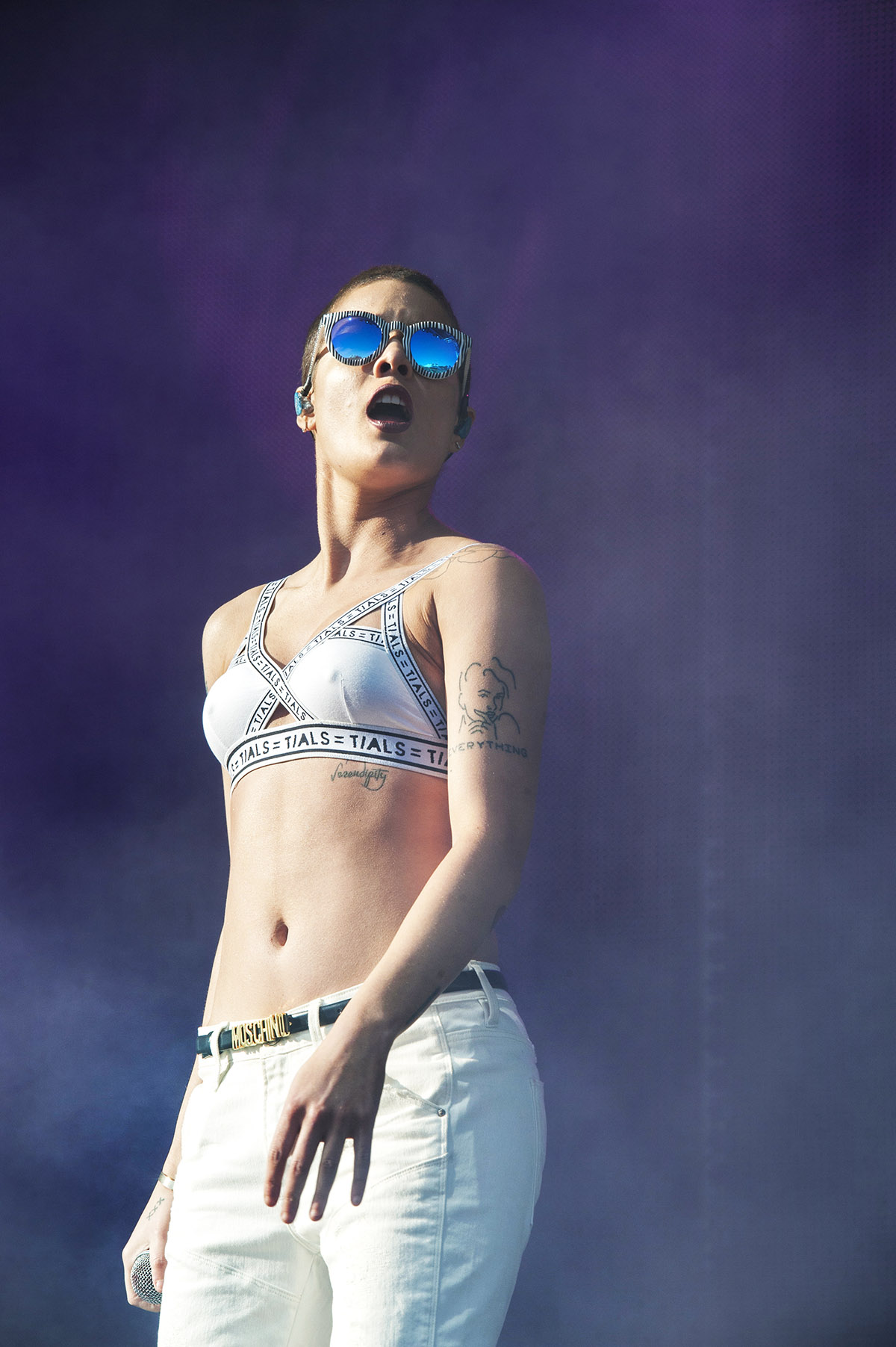 Making her Australian debut, indie pop singer Halsey showcased tracks off her album 'Badlands' on evening two of the 2015 Falls Festival - image courtesy of Kirsty Umback.